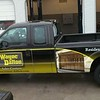 Ford F250 with custom designed wrap for Wayne Dalton Garage Doors, TX