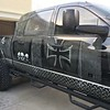 Custom vinyl wrap on this 2007 Dodge Mega Cab done in NC