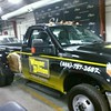 Ford F350 Super Duty with custom designed wrap for Wayne Dalton Garage Doors, TX