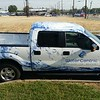 Ford F150 with custom designed wrap for Watercentric, Dallas TX