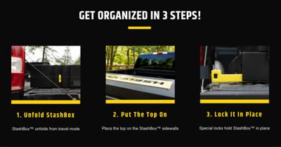 StashBox 3 steps