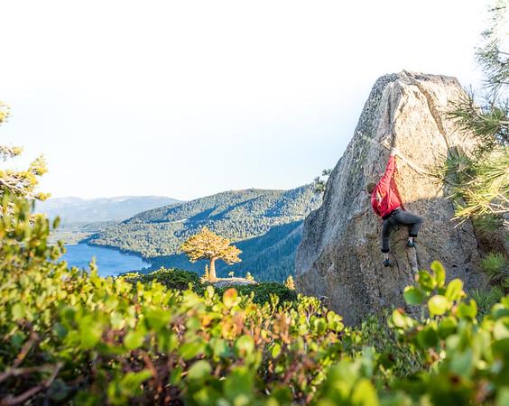 Donner Lake Bouldering Man