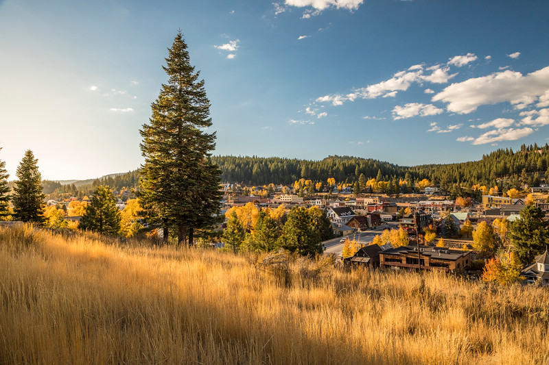 Downtown Truckee Fall Autumn