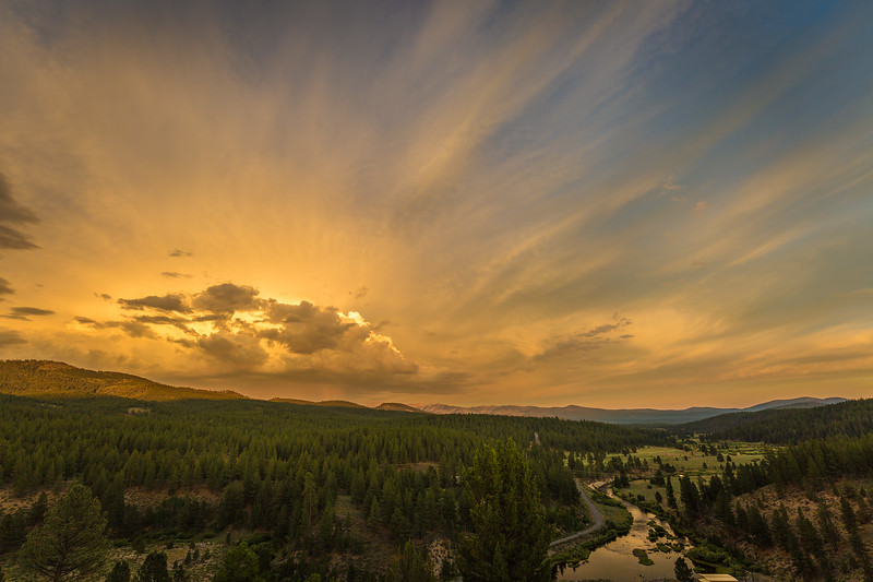 Little Truckee Sunset fro Stampede