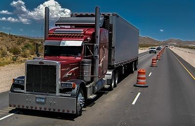 Trucks In Construction Zones