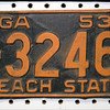 Truck license plate, before restoration, April 2014