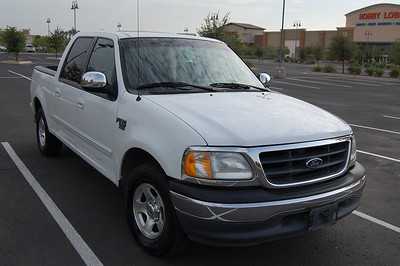 2001 White Ford F150 Supercrew
