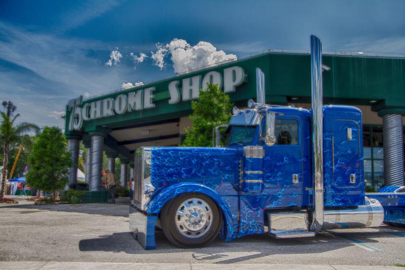 2013 75 Chrome Shop Semi Truck Show Wildwood Fla Backcountrybound