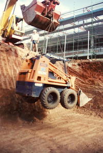 Being lowered into a job at USQ 1994