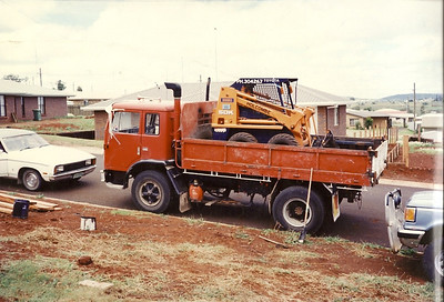 Truck and Bobcat 1991