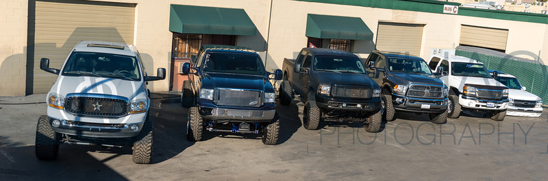 Chase's truck at Xtreme Kustom Detail - fits right in with all the other trucks in the group.