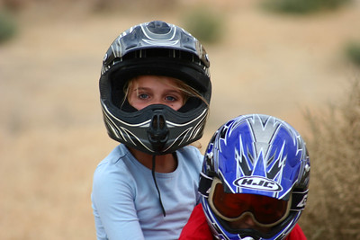 Katie and Blake had lots of fun riding the quads