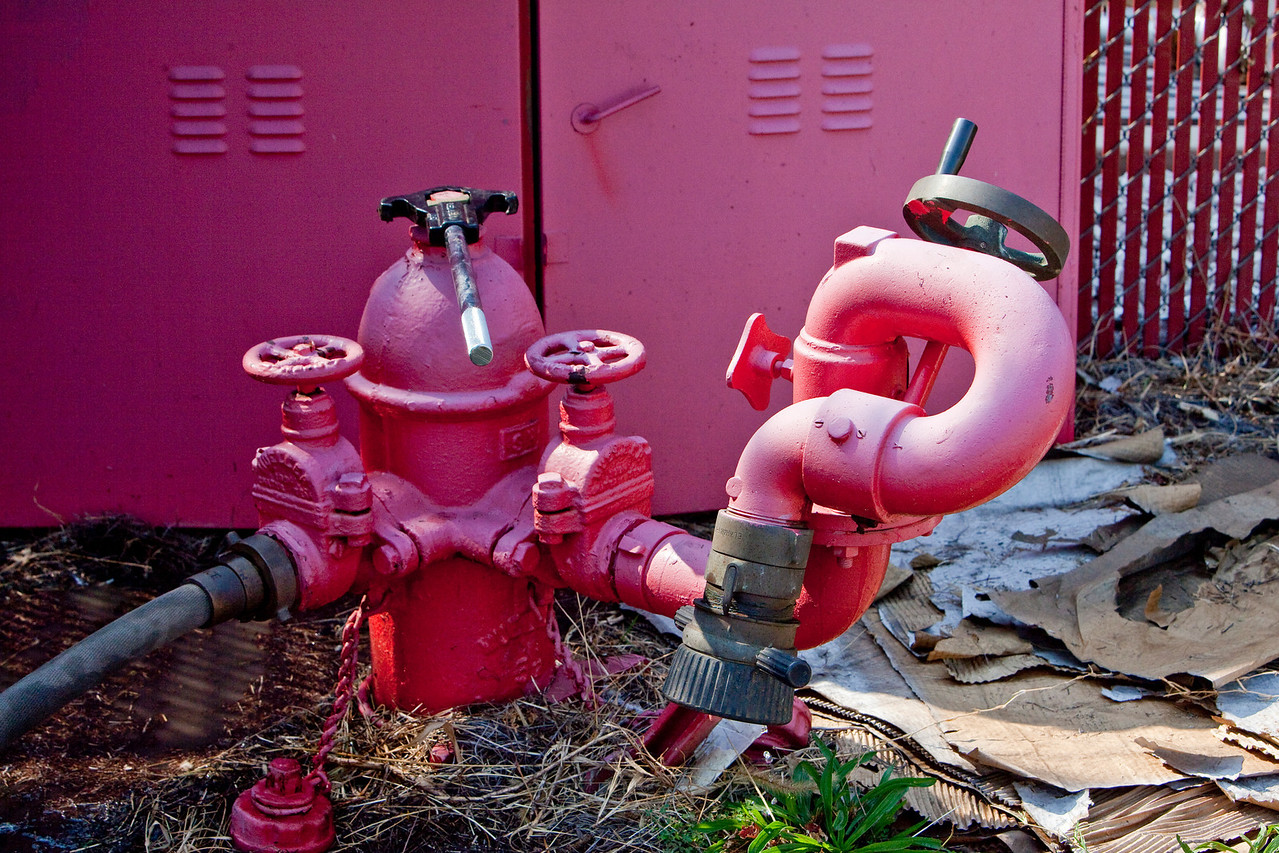 we checked out the weld shop hydrant box and Stingray water canon.