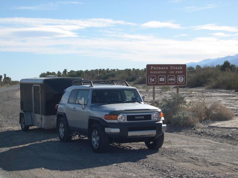 Furnace Creek, Death Valley, CA<br /> 190 Feet Below Sea Level<br /> January 2008