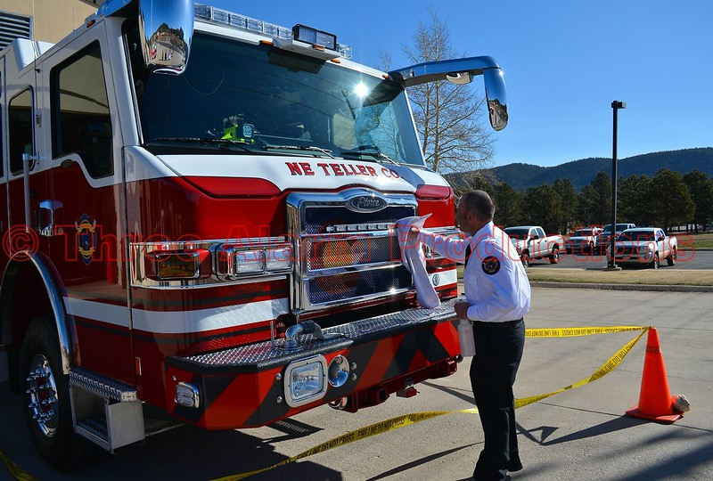 Woodland Park, Colorado, gets a brand new fire engine, which was placed into service on the morning of April 4, 2015.
