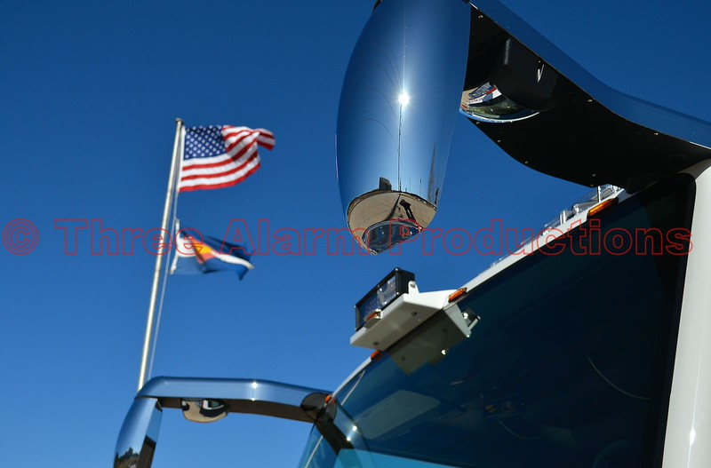 The specialty mirrors seen on the new fire engine 1, which was custom built by Pierce Manufacturing. On April 4, 2015, Northeast Teller County Fire Protection District, celebrated their new fire engine that was placed into service.