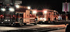 Colorado Springs Fire Apparatus on the scene of an apartment fire, at Sunset Creek Apartments.