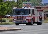 Colorado Springs Fire Engine 10 responding Code 3 on Austin Bluffs Parkway.