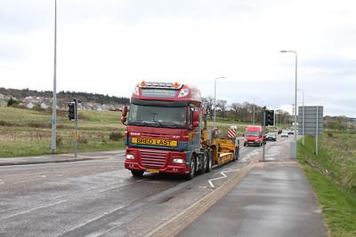 DAF XF Van der Wetering BV eastbound B8082 Sir Walter Scott Drive, Inverness