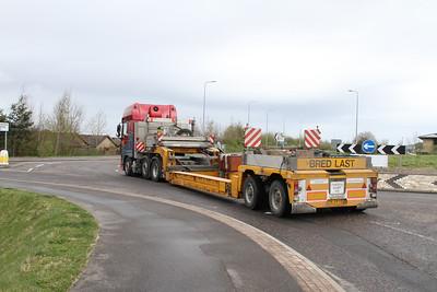 DAF XF Van der Wetering BV eastbound B8082 Sir Walter Scott Drive, Inverness.  Noteboom trailer