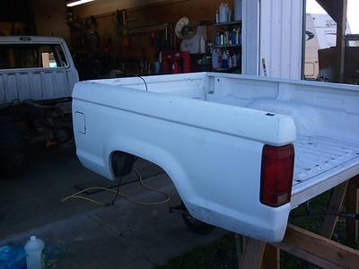 The cab can be removed, now's time to cut off bedsides