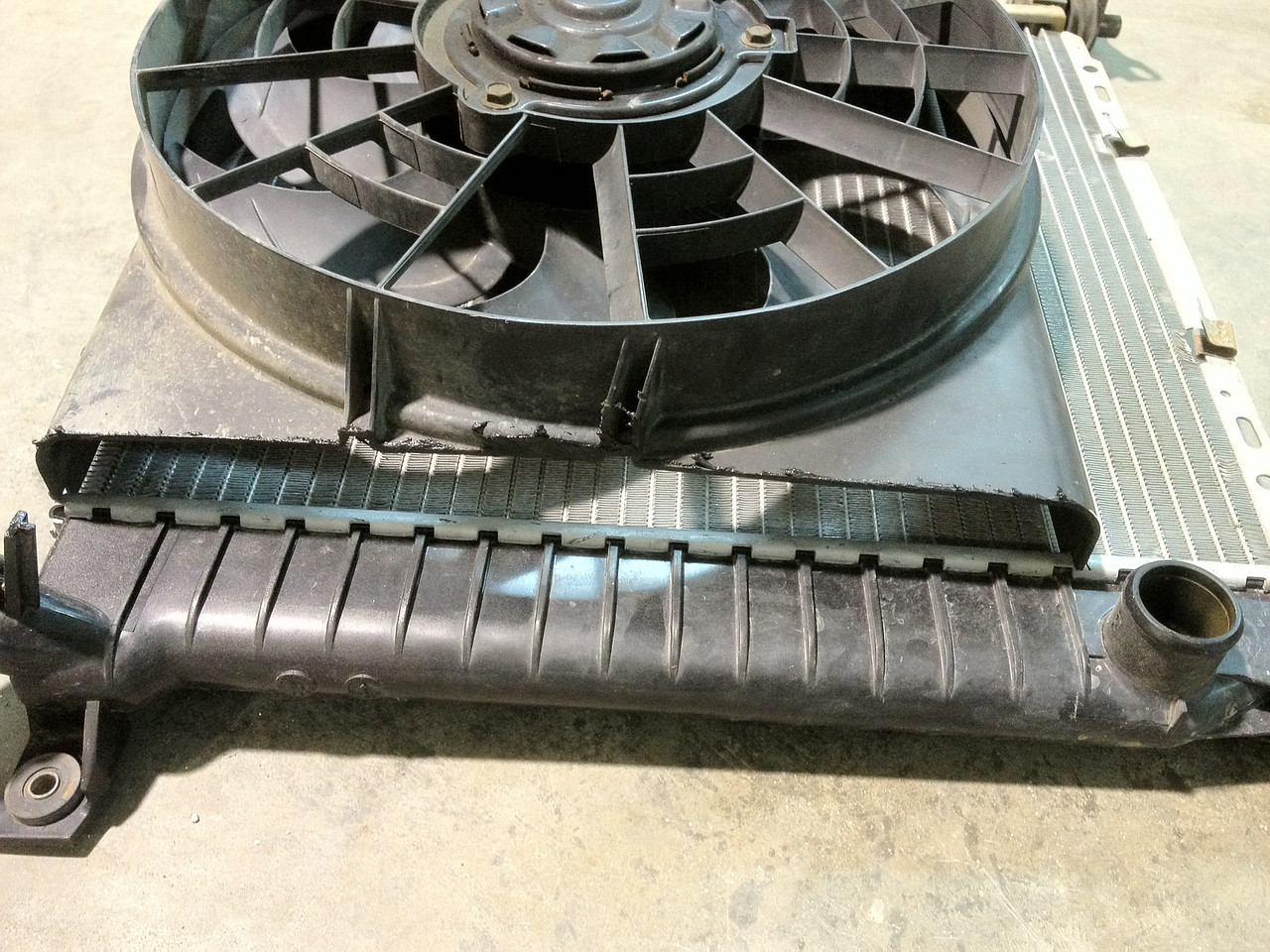 Have to close in this gap and come up with a support for the fan.