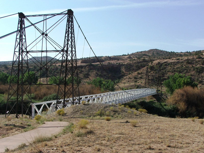 Dewey Bridge across the Colorado River.  On the way to the Top of the World trail.