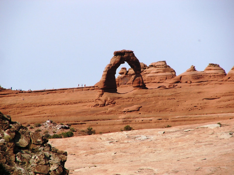 Delicate Arch from the Cache Canyon 4WD trail in Arches NP.