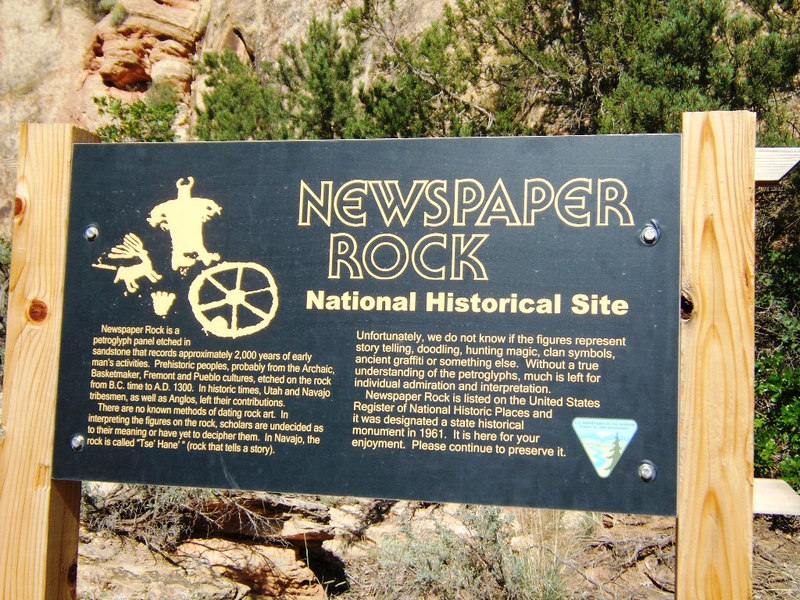 Newspaper Rock Info. (DR)