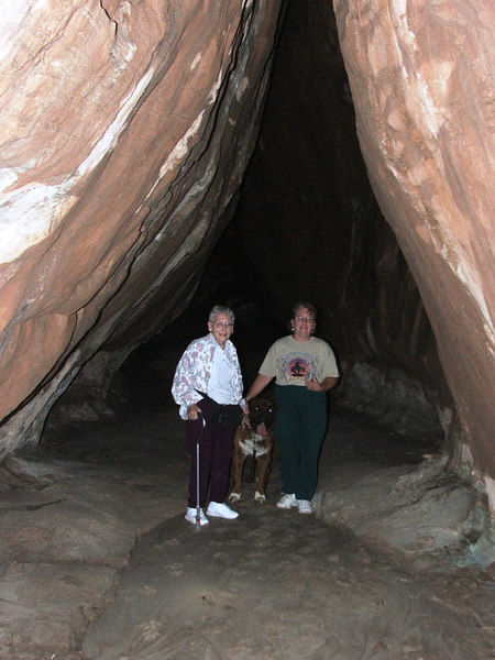 Deb, Wilma, and Luke in Tusher Tunnel.
