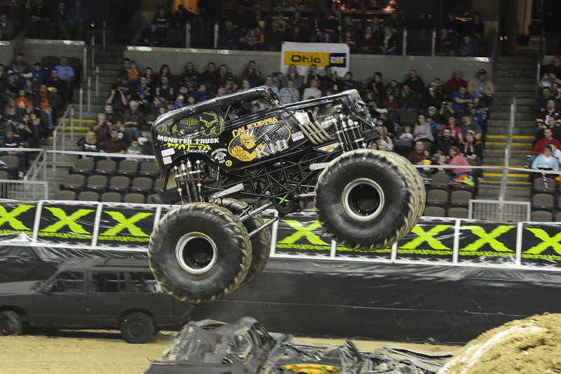 California Kid with driver Kevin Post during the Monster X Tour at The Bank of Kentucky Center in Highland Heights, Kentucky.