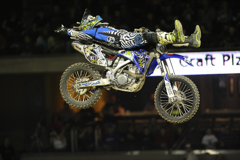 FMX Rider Michael Keeper during the Monster X Tour at The Bank of Kentucky Center in Highland Heights, Kentucky.