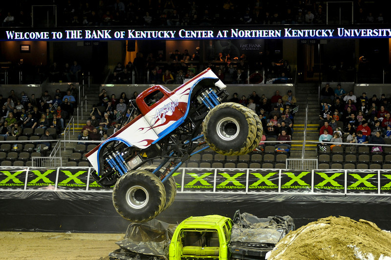 American Graffiti with driver Justin Cluster During the show.  Monster X Tour at The Bank of Kentucky Center in Highland Heights, Kentucky.