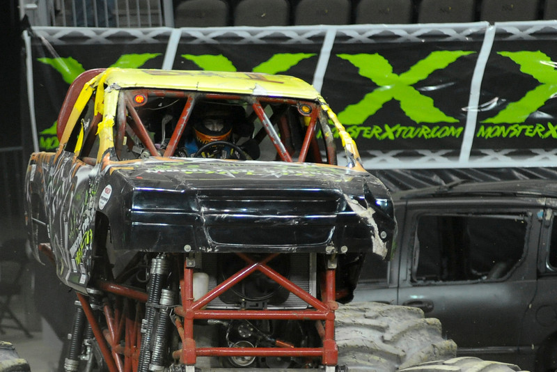 Rock Star with driver Bill Payne and Team Straight Up Racing During the show.  Monster X Tour at The Bank of Kentucky Center in Highland Heights, Kentucky.