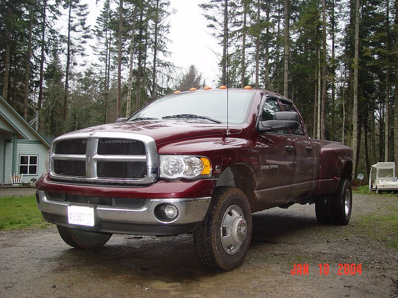 This is my truck.  It's a 2003, Dodge Ram 3500 0ne ton Dually.  It has the 5.9 Cummings Diesel engine coupled to the 48RE transmission.  I had just gotten this truck and had not had the chance to start modifying it yet, many changes were to be made in the next year.