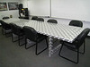 Another example of their aluminum skills- a unique conference table.