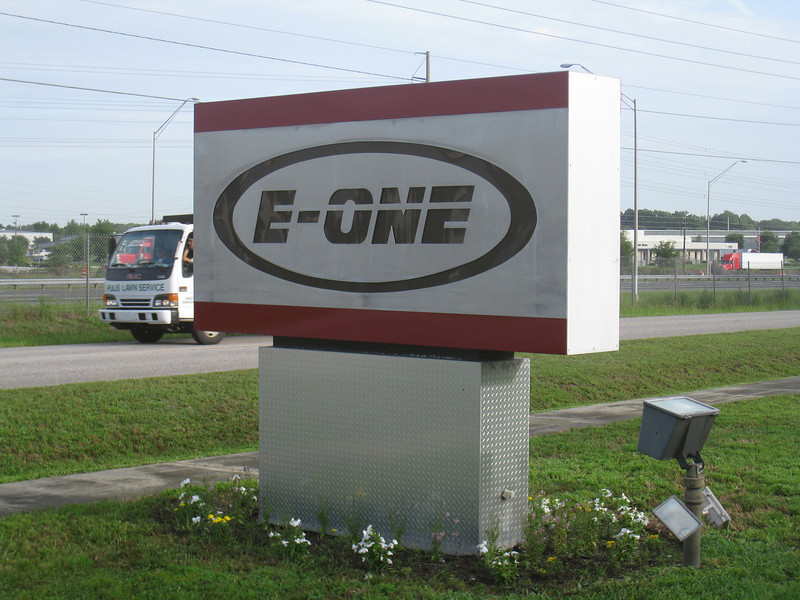 E-One's main entrance at their factory in Ocala, FL.