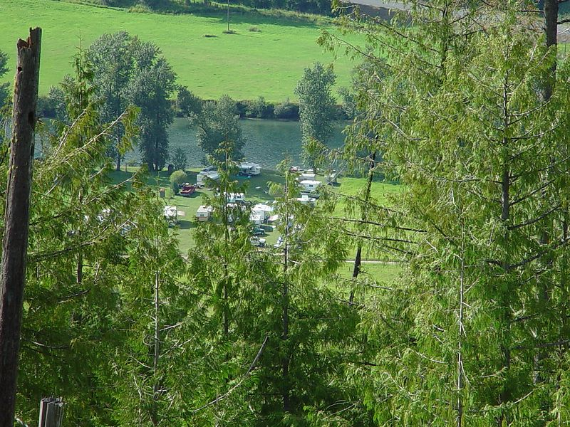 This is looking down on our camp site from way up the side of the mountain, I have zoomed in on this shot.