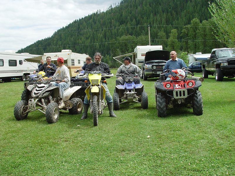 The participants on the morning trail ride, from left to right.<br /> Cody, Byron, Loren, Bub-ba, Dave, Fred, Mike.