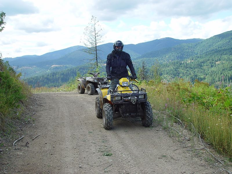 It was much easier to ride the quad in the gnarly places.