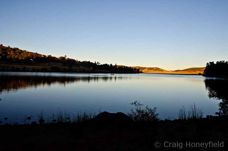 Lake Cuyamaca around Sun Set.