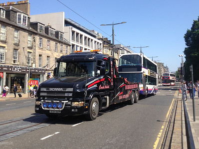 36016 is the demic Livingston Scania.   Given this was a half-***** attempt with my phone, it has worked well.   I had just been to my hair stylist and hadn't bothered with my camera - which is entirely typical shoddy luck.