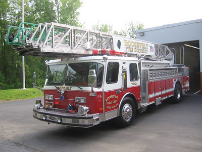 Roosevelt F.D. Ladder 63-45 in front of Station #3