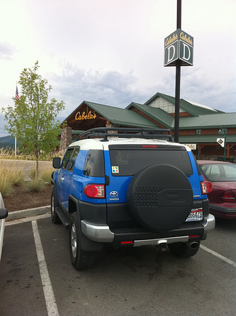 The FJ made a stop at Cabela's in Post Falls.