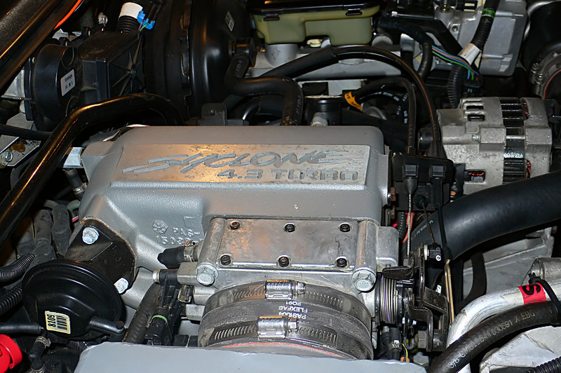"The engine cover. ""Syclone 4.3 TURBO' it's a nice touch."