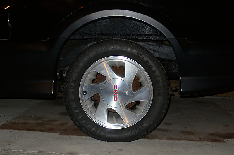 The tries look excellent. There are some scrathes, but they are underneath the clear-coat. Apparently this is the case for most of the Syclone/Typhoon wheels. The tires show almost no signs of ever being driven, which is pretty much true at 1,269 miles.