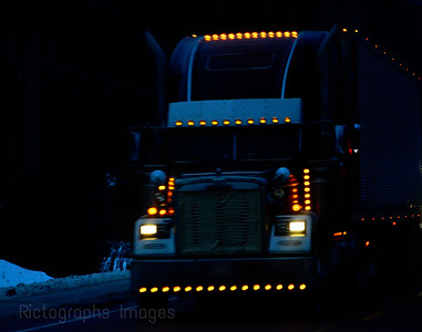 Night Trucking, Travel, Rictographs Images
