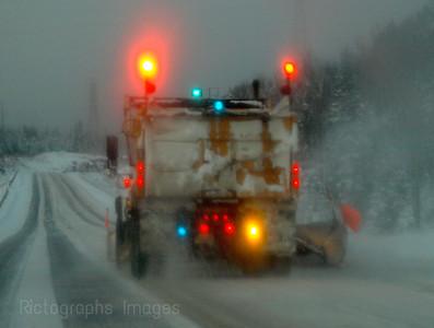 Snow Plow Plowing Snow.