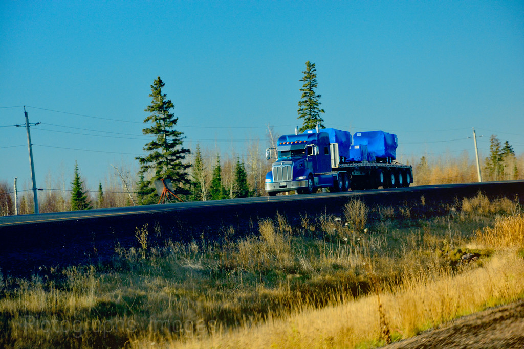 Trucking On The Trans Canada Highway, Rictographs Images