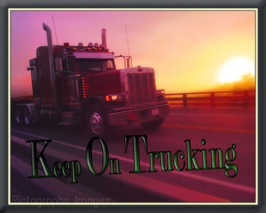 Sunrise, Truck, Trucking